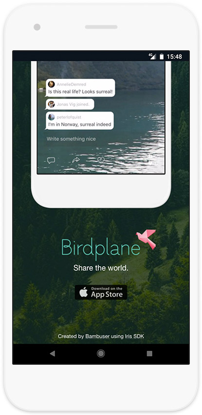 Birdplane mobile website