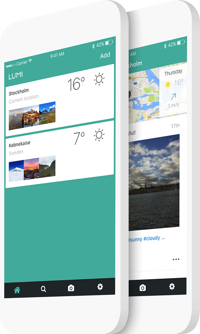 Lumi Weather early app version