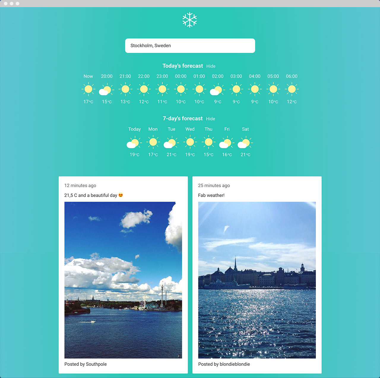Lumi Weather desktop website